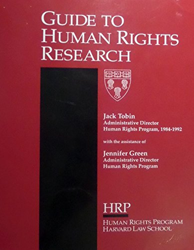 Guide to human rights research: Tobin, Jack