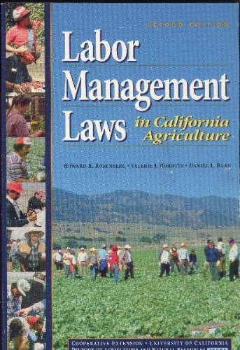 9781879906297: Labor Management Laws in California Agriculture (Publication / University of California, Division of Agricult)