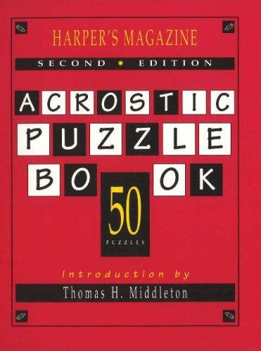9781879957237: Harper's Magazine Acrostic Puzzle Book