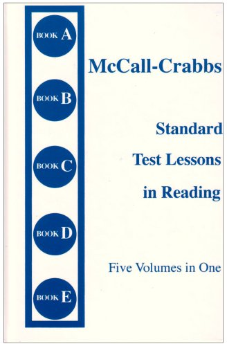 McCall Crabbs: Standard Test Lessons in Reading, Books A-E