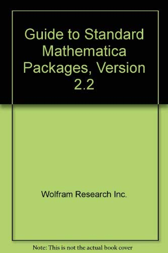 9781880083093: Guide to Standard Mathematica Packages, Version 2.2