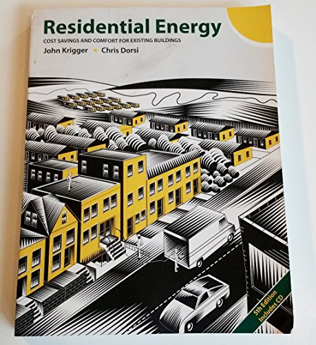9781880120095: Residential Energy: Cost Savings and Comfort for Existing Buildings