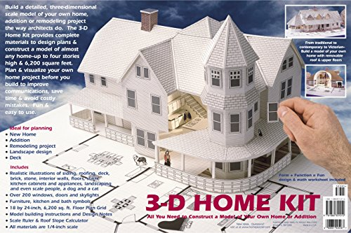 9781880301012: 3-D Home Kit: All You Need to Construct a Model of Your Own Home or Addition