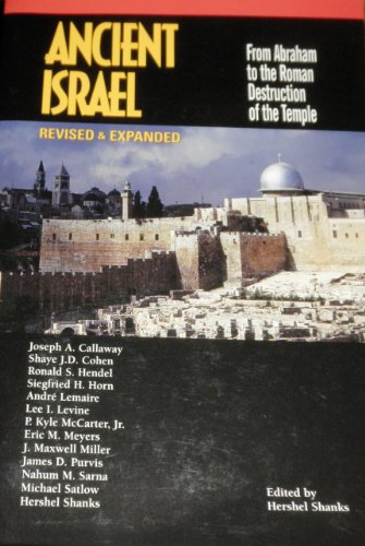 9781880317549: Ancient Israel: From Abraham to the Roman Destruction of the Temple