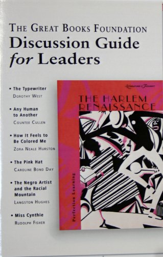 The Harlem Renaissance Shared Inquiry Teacher Guide (Discussion Guide for Leaders, The Harlem ...