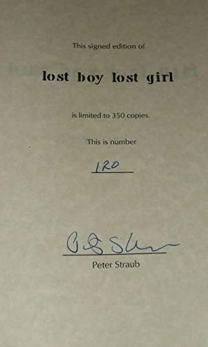 Lost Boy Lost Girl: A Novel: Straub, Peter