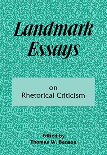 9781880393086: Landmark Essays on Rhetorical Criticism: Volume 5 (Landmark Essays Series)