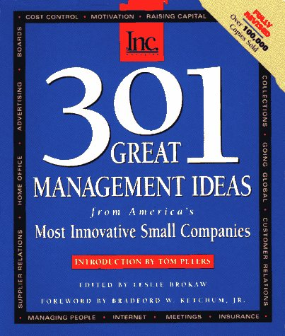 9781880394212: 301 Great Management Ideas: From America's Most Innovative Small Companies