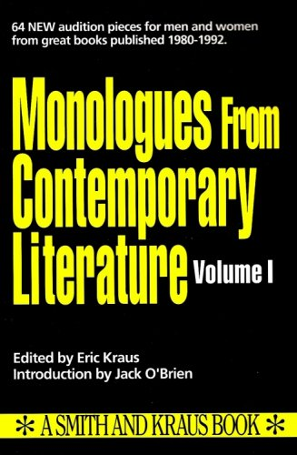 1: Monologues from Contemporary Literature: Kraus, Eric