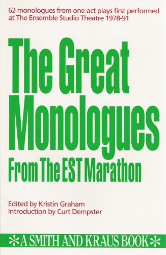 9781880399064: The Great Monologues from the EST Marathon (Monologue Audition Series)