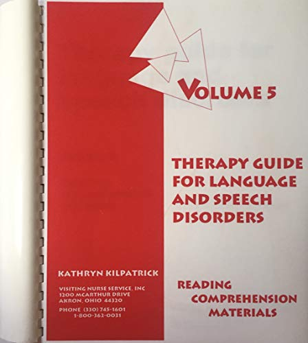 Therapy guide for language and speech disorders: Kilpatrick, Kathryn