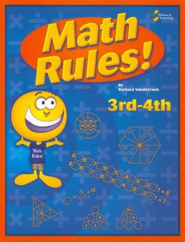 Math rules!: 3rd-4th grade 25 week enrichment challenge *Now includes PDF of Book*: Barbara ...