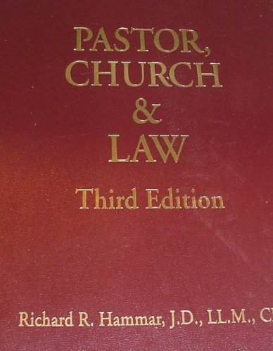 9781880562420: Pastor, Church & Law