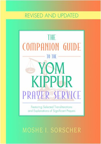 9781880582916: Comp. Guide to the Yom Kippur Prayer Service (Companion Guides)