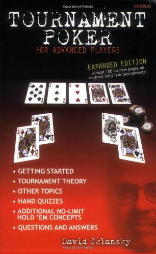 9781880685419: Tournament Poker for Advanced Players: Expanded Edition