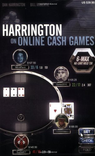 9781880685495: Harrington on Online Cash Games; 6-Max No-Limit Hold 'em