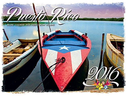 9781880760666: Puerto Rico Deluxe Wire-O Calendar 2016 - 12 x 9.5 (English and Spanish Edition) Includes BONUS NOTEPAD