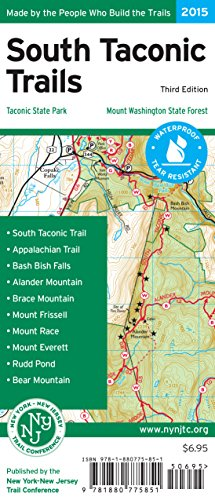 9781880775851: South Taconic Trails Map