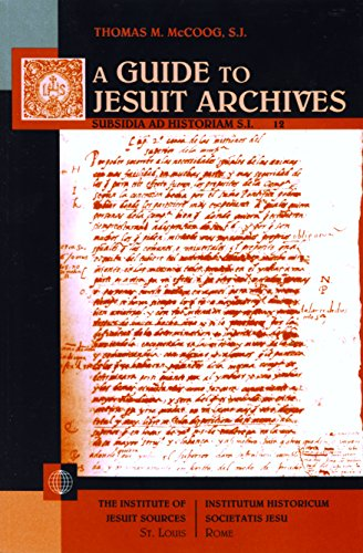 9781880810422: Guide To Jesuit Archives (Subsidia ad historiam S.I)