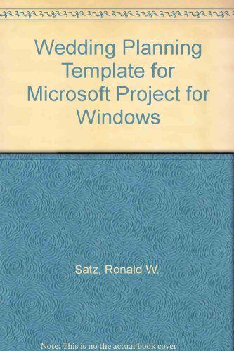 9781880845172: Wedding Planning Template for Microsoft Project for Windows