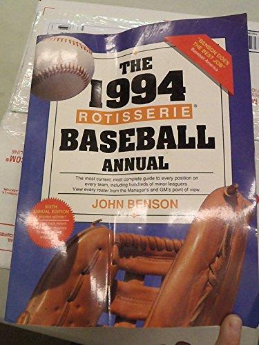 The Rotisserie Baseball Annual 1994 (Benson's Baseball Annual)