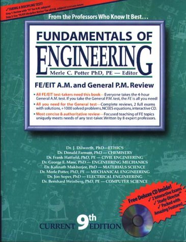 9781881018193 Fundamentals Of Engineering Review General New 9th Edition