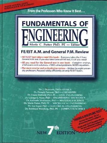 9781881018278: Fundamentals of Engineering : The Most Effective FE/EIT Review : For the Morning & General Afternoon Tests (7th Ed)