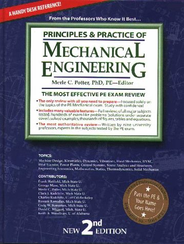 9781881018520: Principles & Practice of Mechanical Engineering: The Most Efficient and Authoritative Review Book for the PE License Exam (2nd Ed)