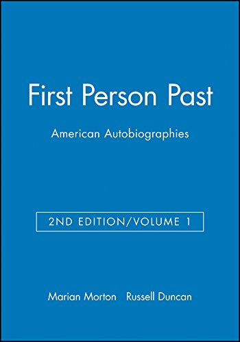 9781881089070: First Person Past: American Autobiographies (Volume 1)