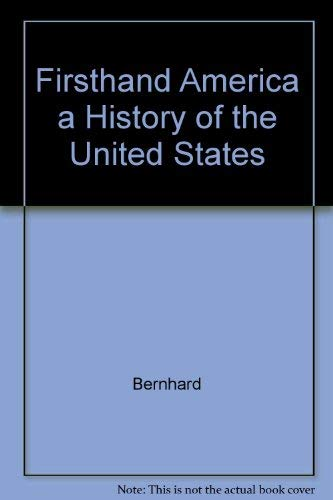 9781881089179: Firsthand America a History of the United States