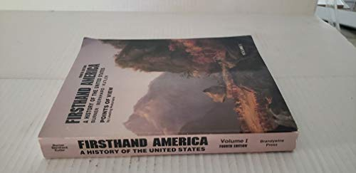 Firsthand America a History of the United: Burner, David And