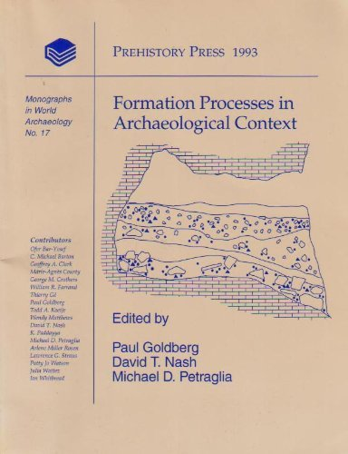 9781881094067: Formation Processes in Archaeological Context (Monographs in World Archaeology)