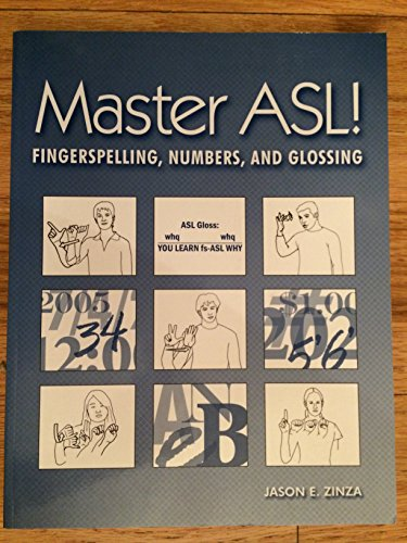9781881133216: Master ASL: Fingerspelling, Numbers, And Glossing