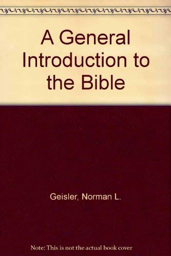9781881229162: A General Introduction to the Bible