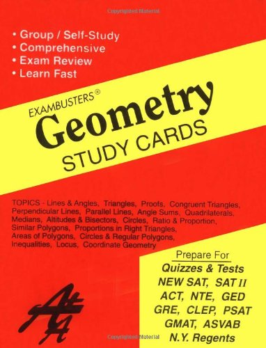 9781881374909: Ace's Geometry Exambusters Study Cards (Ace's Exambusters)