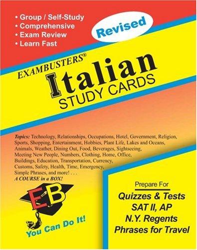 9781881374992: Ace's Italian Exambusters Study Cards (Ace's Exambusters) (Italian Edition)