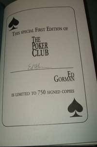 The Poker Club A Novel Of Urban Terror: Gorman, Ed