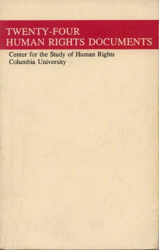 Twenty-Four Human Rights Documents: Columbia University Press
