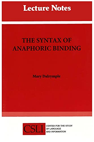 The Syntax of Anaphoric Binding (Lecture Notes)