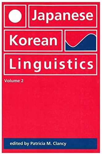 9781881526131: Japanese/Korean Linguistics, Volume 2