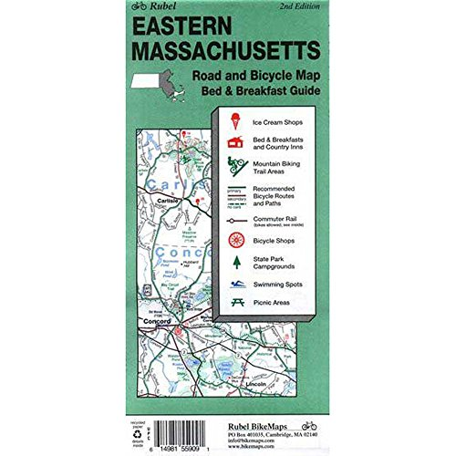 Eastern Ma, Bike & Road Map