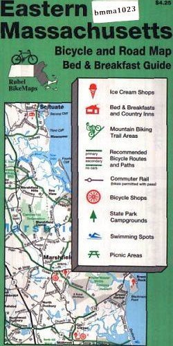9781881559108: Eastern Massachusetts: Bicycle and Road Map Bed & Breakfast Guide - From Marlborough east to Atlanti