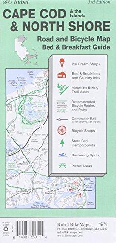 9781881559115: Cape Cod & North Shore Bike Routes