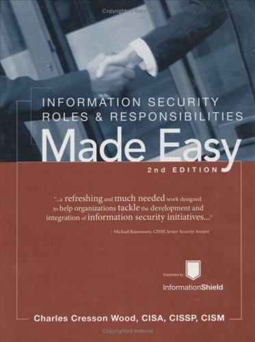 9781881585121: Information Security Roles & Responsibilities Made Easy, Version 2