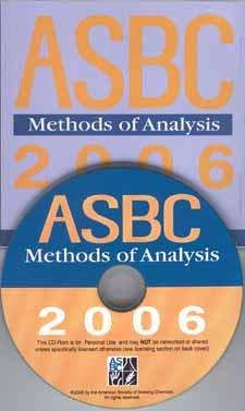 9781881696063: ASBC Methods of Analysis 2006 Cdrom (Single User cdrom)