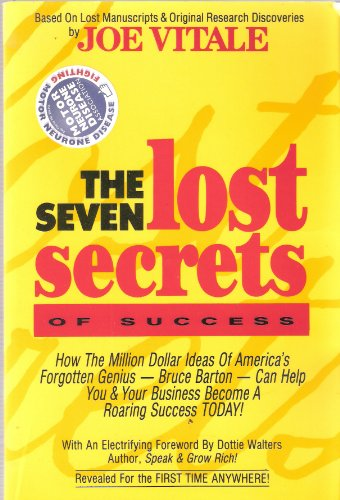 9781881760009: The Seven Lost Secrets of Success