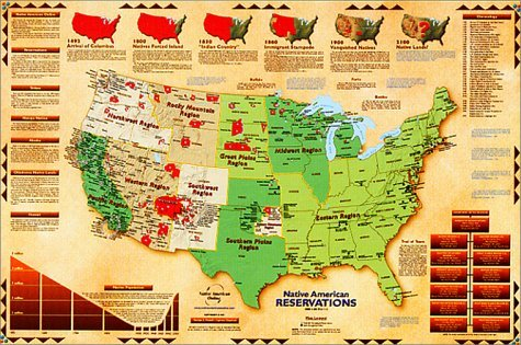 9781881933113: Native American Reservations Map