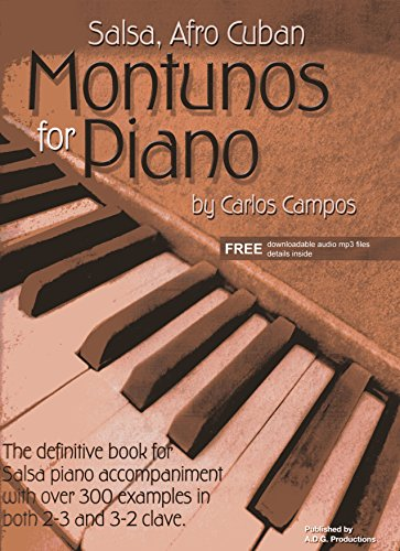 9781882146543: Salsa & Afro Cuban Montunos for Piano Book/downloadable audio files