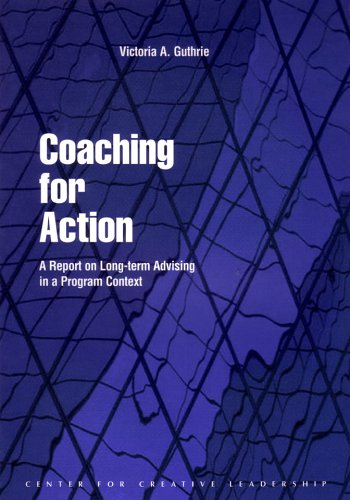 9781882197507: Coaching for Action: A Report on Long-Term Advising in a Program Context (CCL)