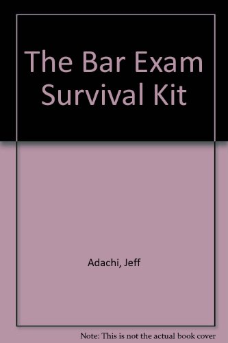 9781882278008: California Bar Exam Survival Kit
